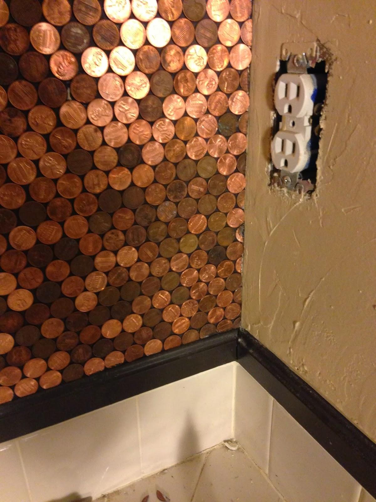 diy penny bathroom backsplash bluffit