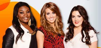 American Idols Candice, Angie, and Kree