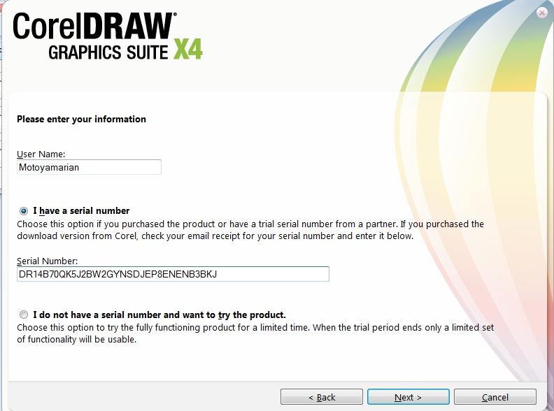 Kemudian klik Next untuk melanjutkan proses penginstallan Corel Draw X4, tu