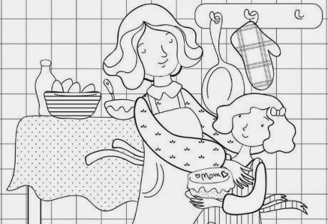 Dibujos Dia de la Madre para Colorear, parte 2