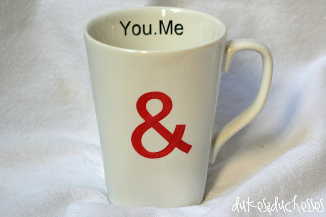 love mug with ampersand