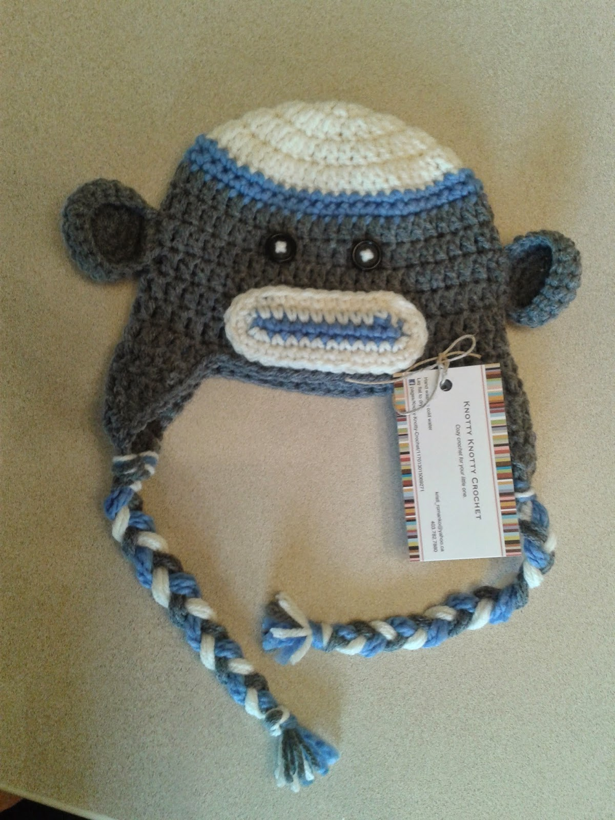 Knotty knotty crochet free sock monkey hat pattern dt1010fo
