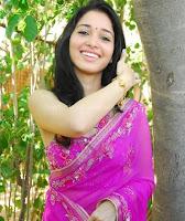 Tamanna, in, rose, saree