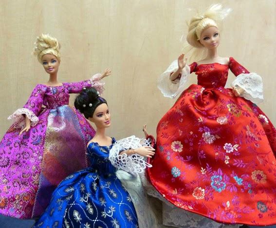 Patrones y moldes de vestidos para Barbie, gratis