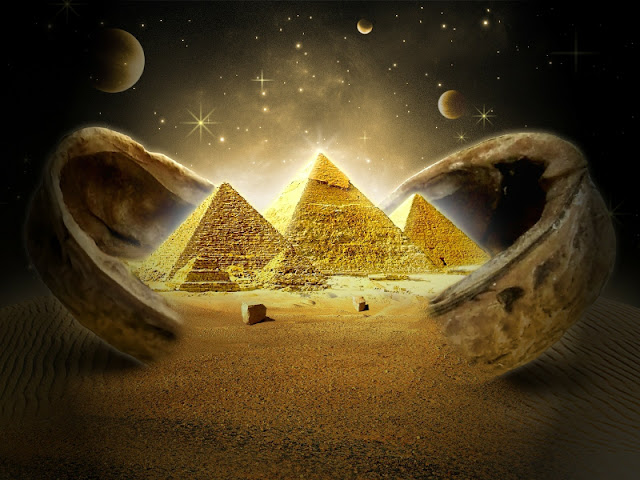 An Electromagnetic Sphere was located on top of the Great Pyramid of Giza