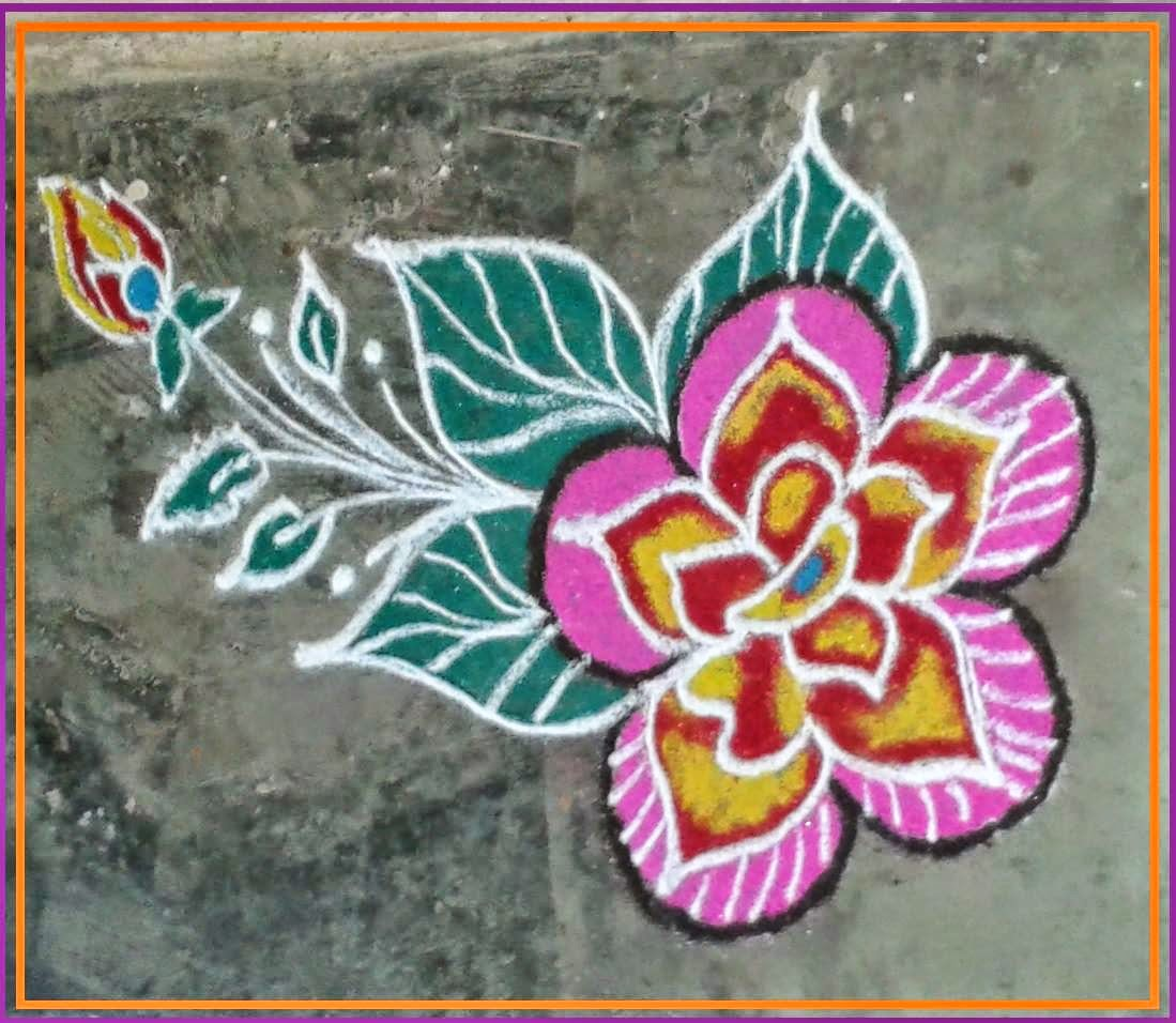 Kids Rangoli Designs 16