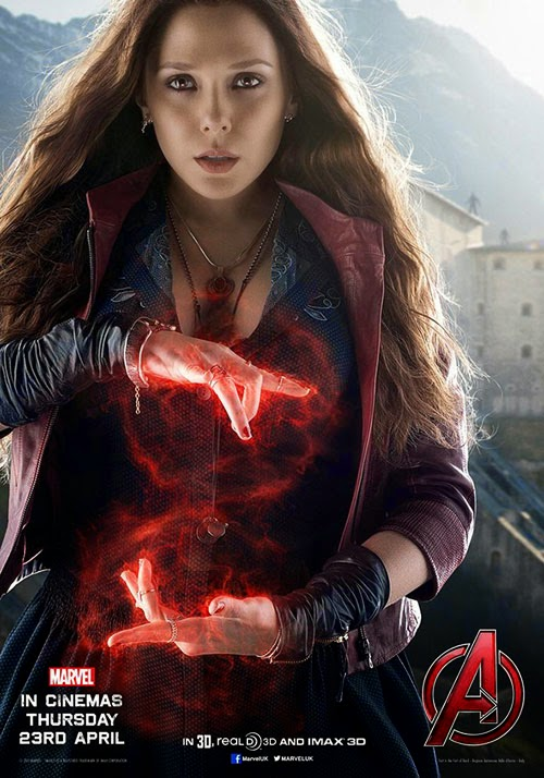 アベンジャーズ:エイジ・オブ・ウルトロンに登場する、エリザベス・オルセンが演じるスカーレット・ウィッチ