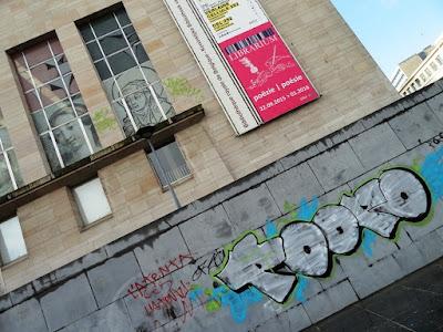 Graffiti à Bruxelles, Mont des Arts, byrrh