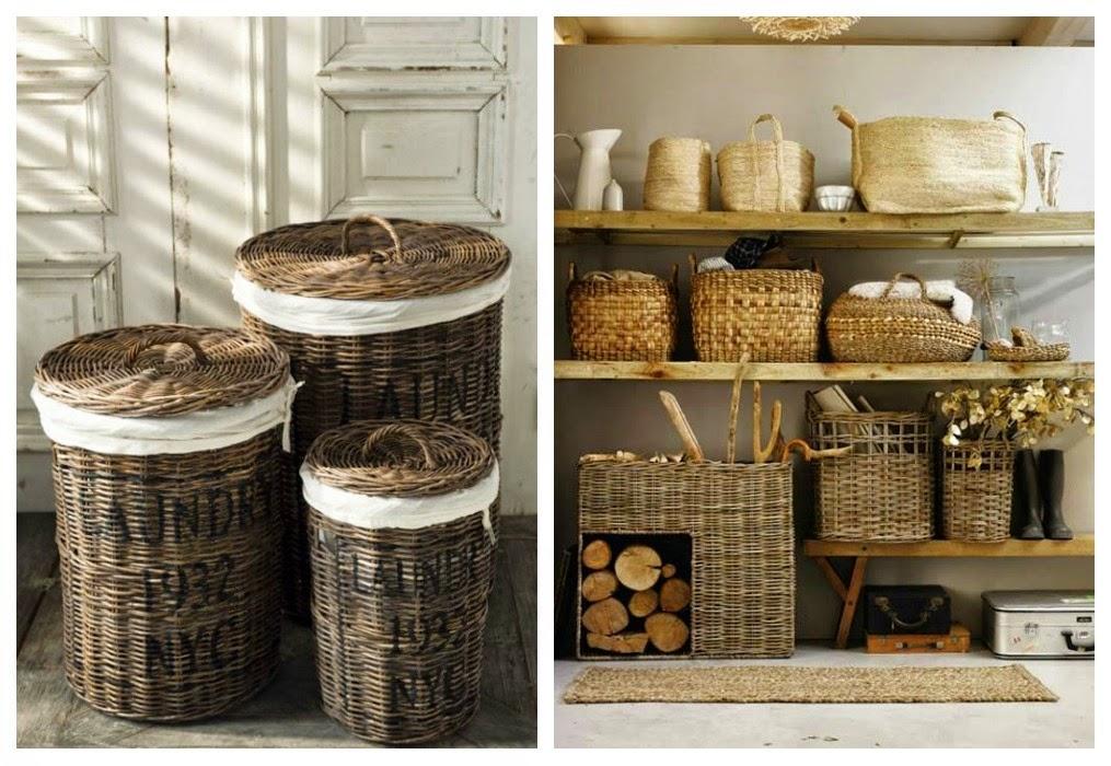 Mi rinc n de sue os ideas para organizar con cestas de mimbre - Como adornar una cesta de mimbre ...