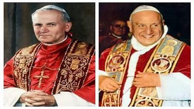João XXIII e João Paulo II serão canonizados conjuntamente a 27 de abril de 2014, II domingo da Páscoa, domingo da Divina Misericórdia