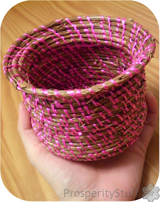 Pine Straw Basket - made with curling ribbon!