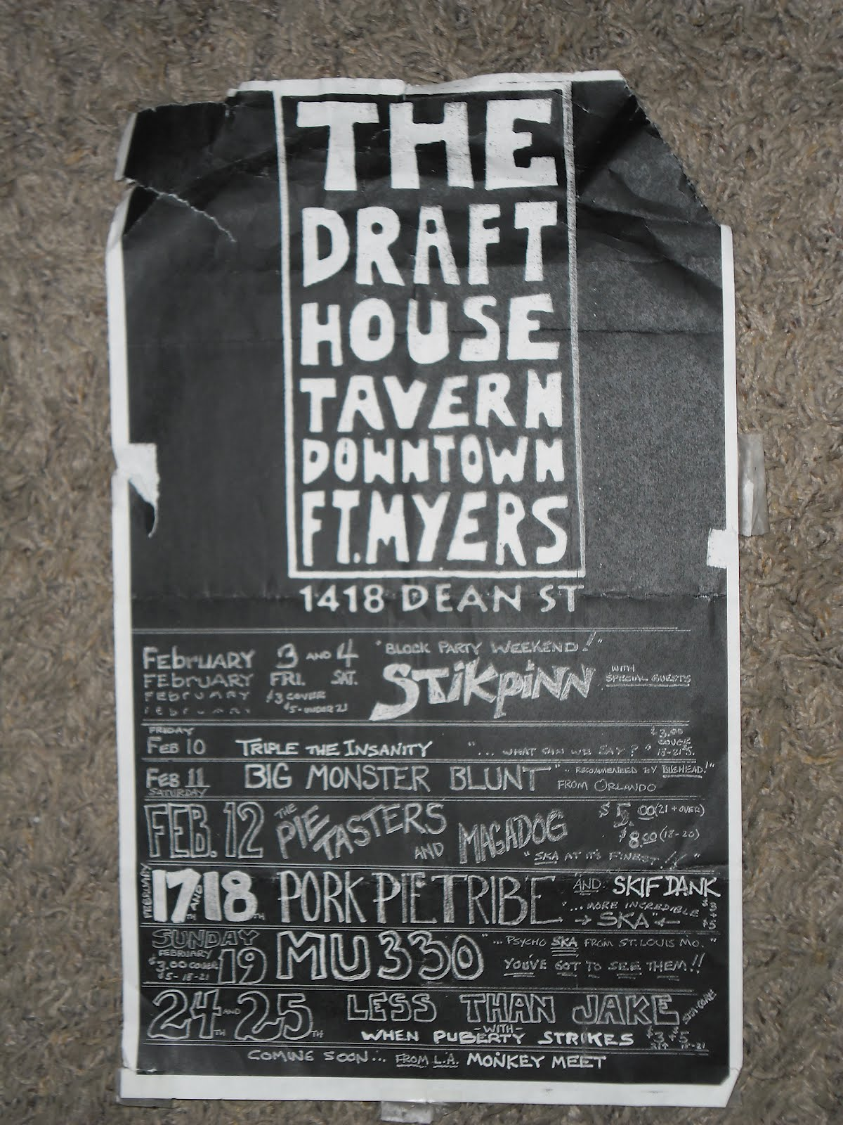 FLYERS FROM MIAMI (The Cameo Theatre!!) AND FT. MYERS ,FLORIDA (The Draft ...