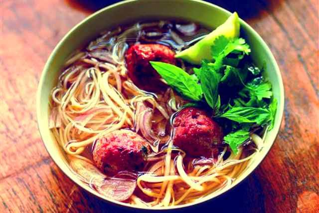 meatball and noodle soup Recipe