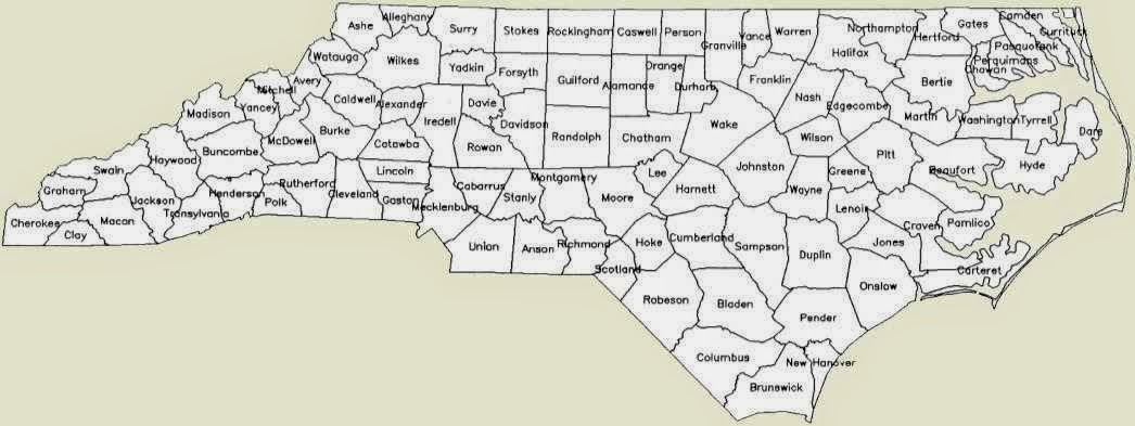 Map Of North Carolina Counties Free Printable Maps: Nc Counties Map Printable At Slyspyder.com
