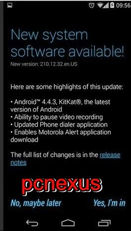 moto g android 4.4.3 kitkat update