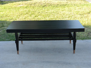 Black Shabby Chic Cofee Table  *SOLD*