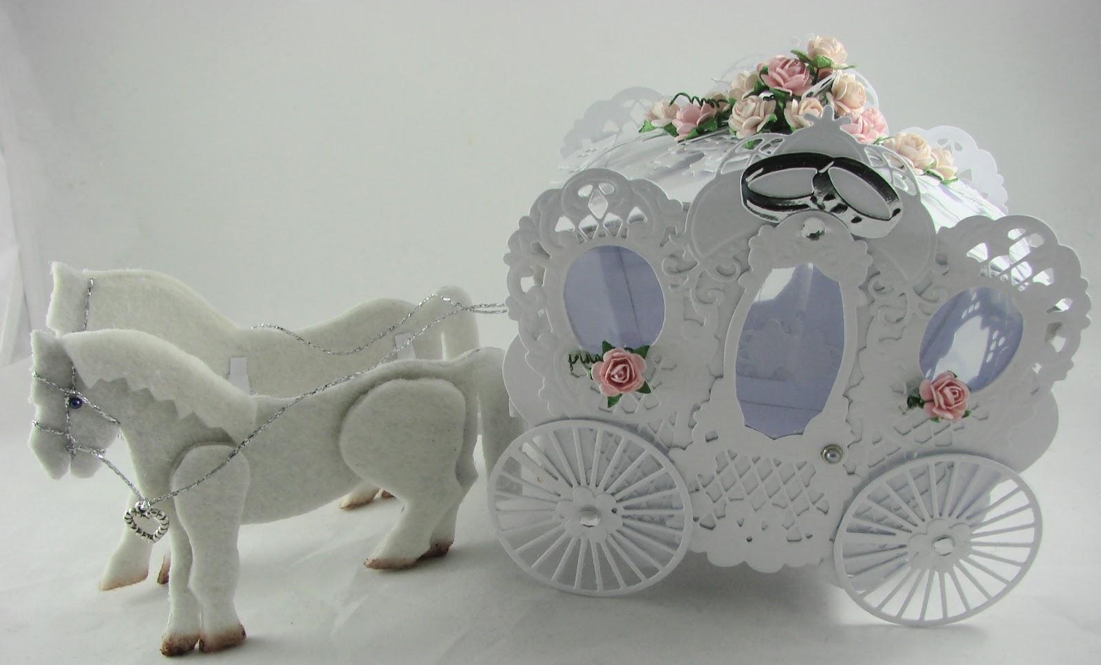... Sachen handgemacht Designblog: Hochzeitskutsche ganz in weiß