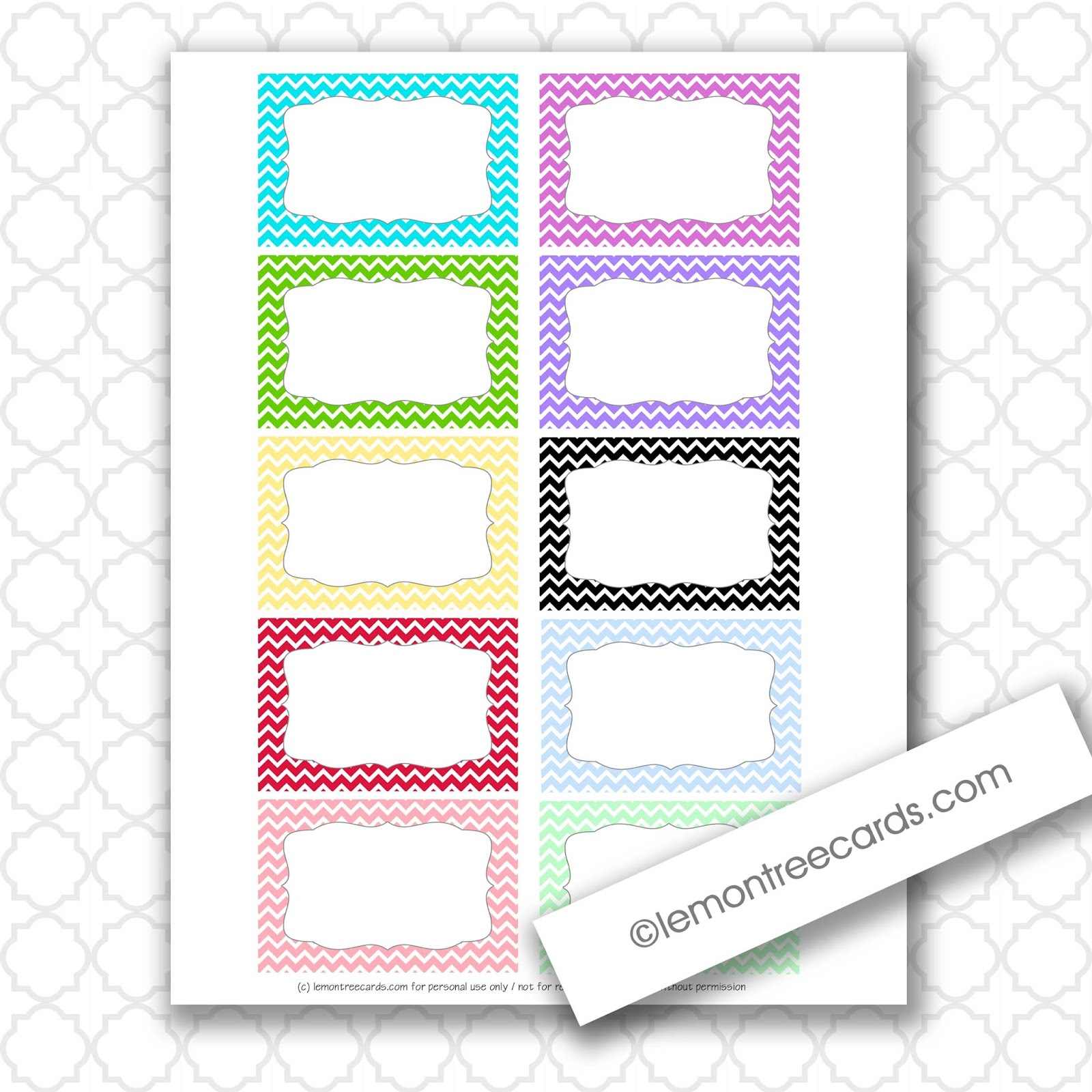 lemon tree cards blog freebie friday tiny chevron note cards free printable. Black Bedroom Furniture Sets. Home Design Ideas