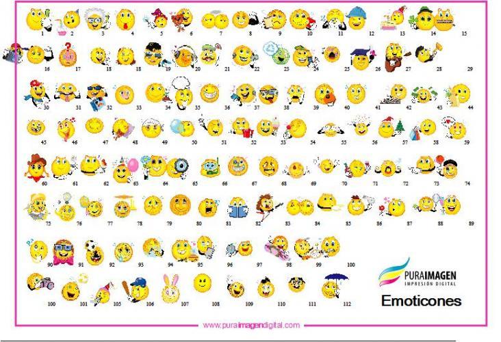 cosas raras y charras: emoticones