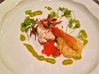 crab, shrimp and caviar appetizer