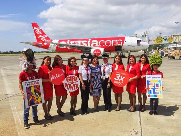 All-female crew fly the skies on AirAsia Philippines