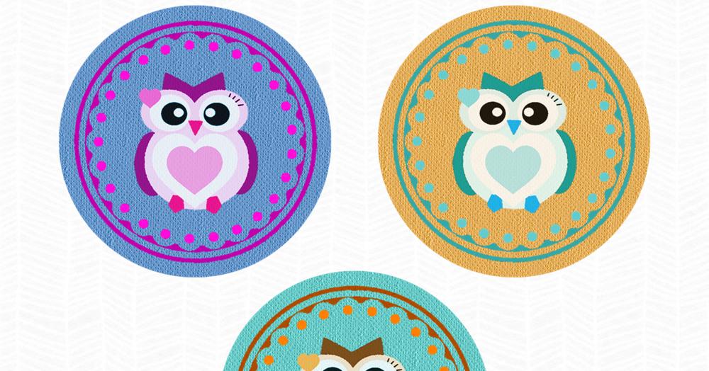 Freebie Fridays #18 - Digital Owl Buttons | The Dutch Lady Designs