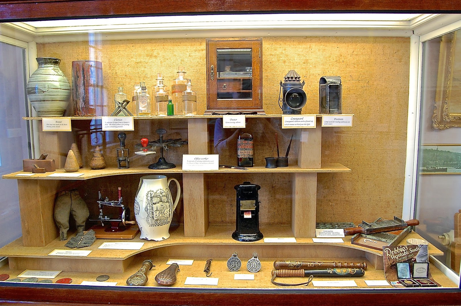 Curio cabinet of professional tools