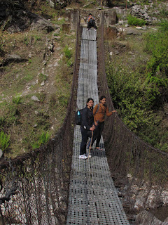 Hanging Bridge over Ghatte Khola, Langtang national park