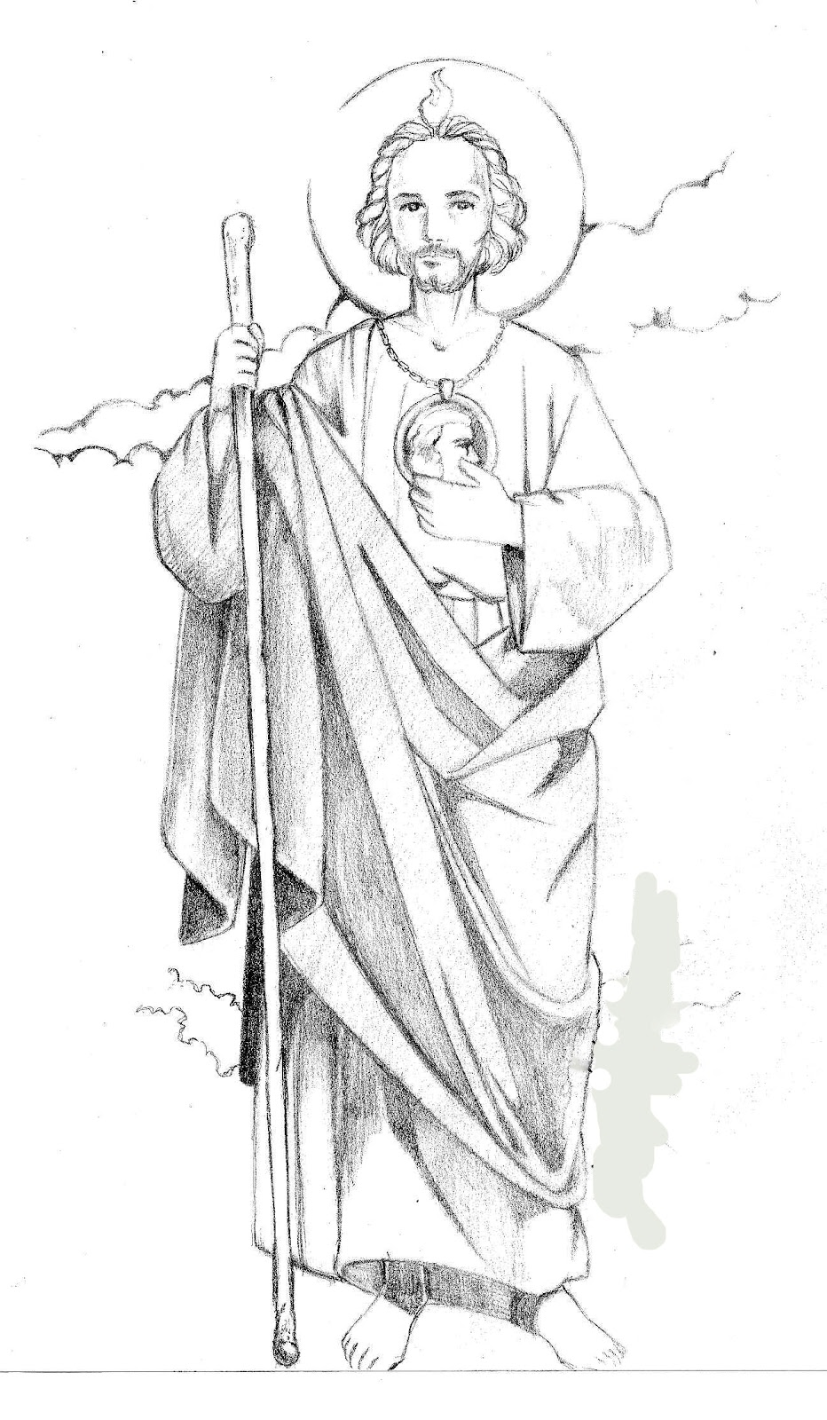 Free Coloring Pages Of Dibujos De San Judas St Jude Coloring Page