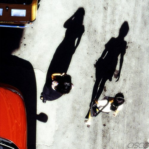 Aerial view of shadow