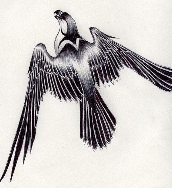 Falcon tattoo design - photo#7