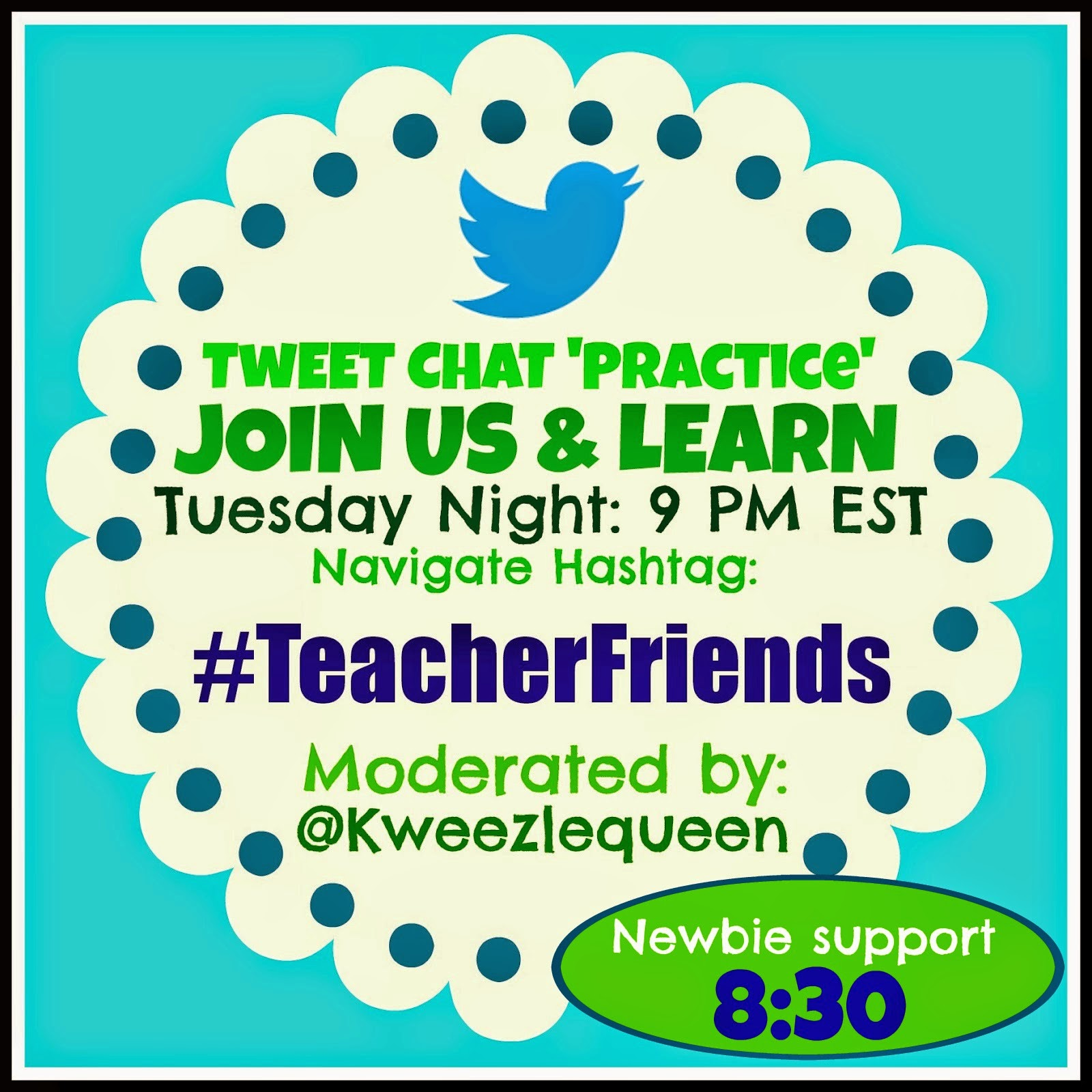 Tuesday Teacher Twitter Chat PRACTICE with Guests and PRIZES!