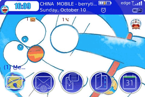 Tema Blackberry Doraemon