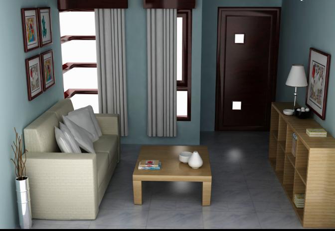 desain interior ruang tamu rumah minimalis mungil tapi lega
