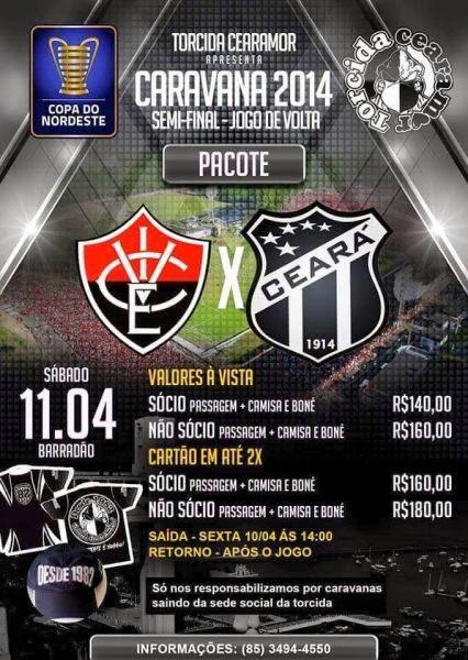 Torcida do Ceará provoca Vitória com o escudo de Vice