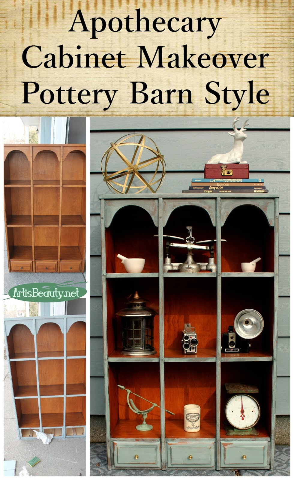 ART IS BEAUTY: Apothecary Cabinet Makeover Pottery Barn Style