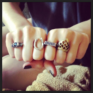rings, westland avenue rings, lost wax jewelry, lost wax rings, weave ring, signet ring, horseshoe ring, labradorite ring, three stone ring, textured rings, braille ring