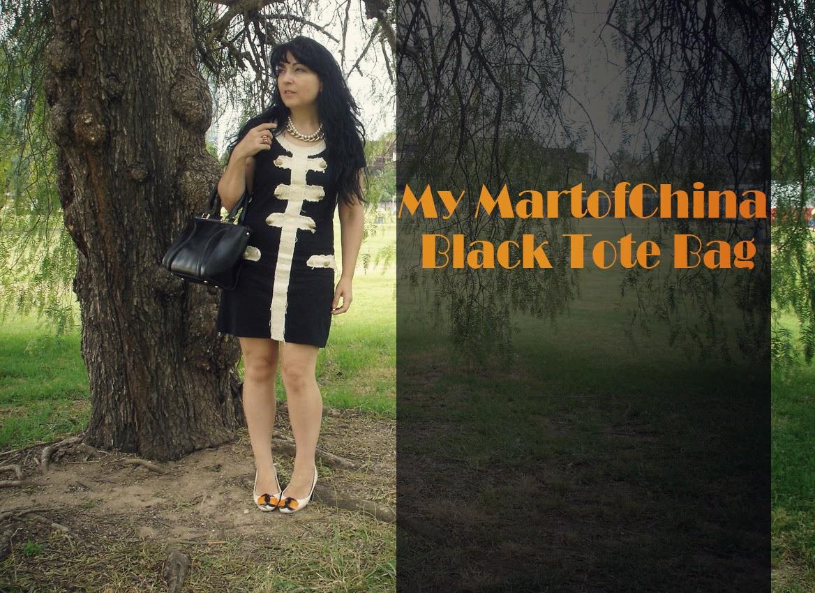 MartofChina+Black+Tote+Bag
