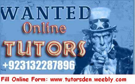 Online tutor, Online teacher, Online tuition, Tutor academy, Home tutor, Karachi, Pakistan