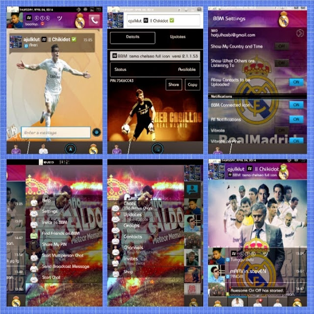 BBM Mod Real Madrid Themes