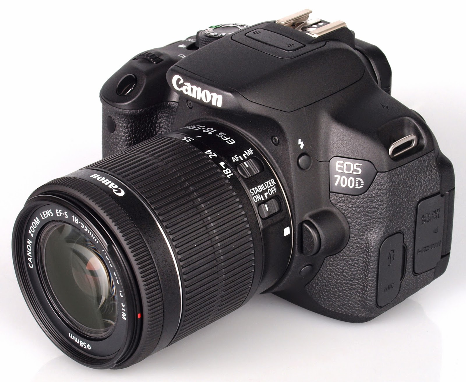 canon eos 700d with 9 cross type points and fast autofocus