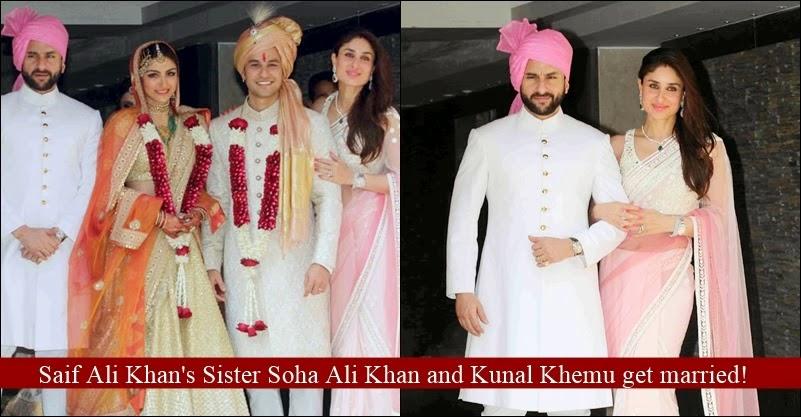 Actress Soha Ali Khan And Kunal Kemmu Wedding Pictures