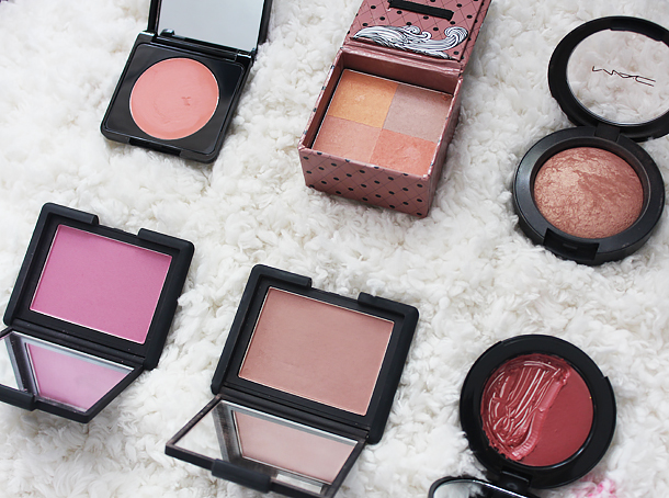 winter blushes swatches mac nars