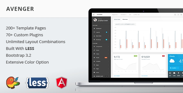 download Avenger - Massive Bootstrap 3 Admin Theme
