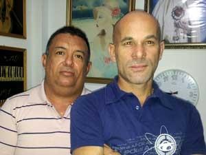 Carlos Alberto do Nascimento e Ivair Fernandes Barbosa, em Campinas  (Foto: Arquivo Pessoal)