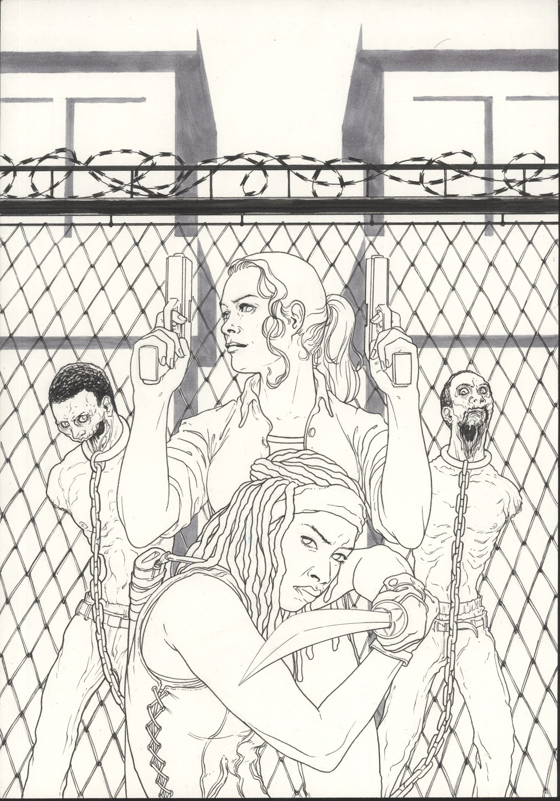 walking dead zombies coloring pages - photo#49