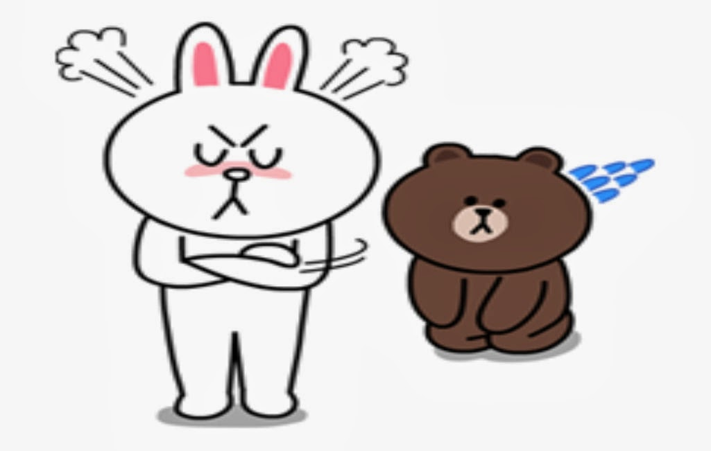 Cute Brown and Cony Sticker for you to share on social media