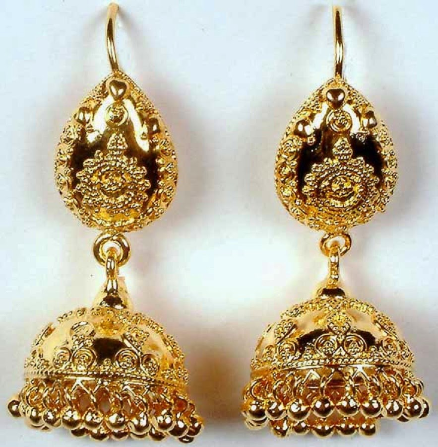 Latest Gold Jhumka Earring Designs Hd Wallpaper