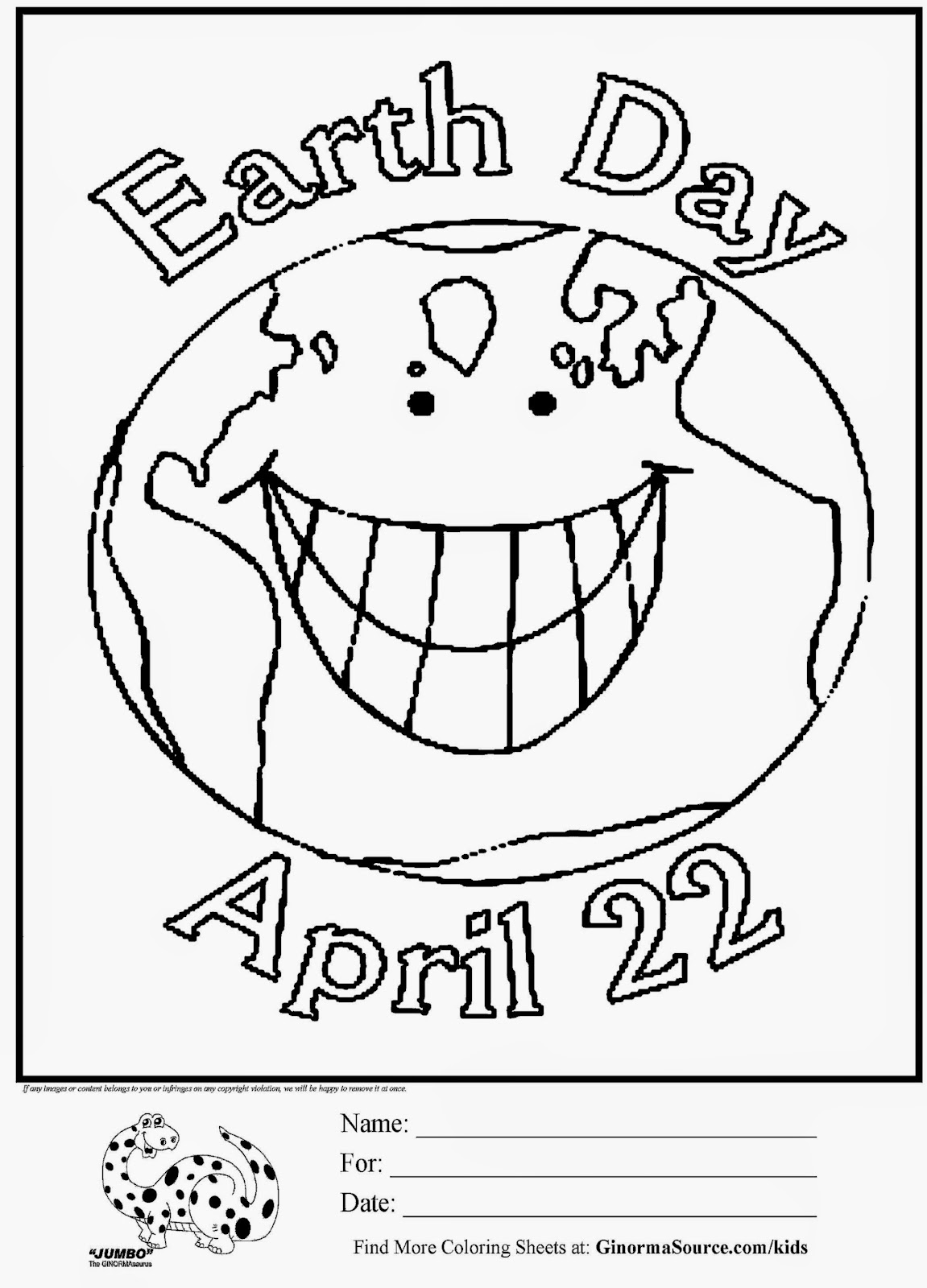 Earth Day Coloring Pages Pdf : Earth day coloring page pages