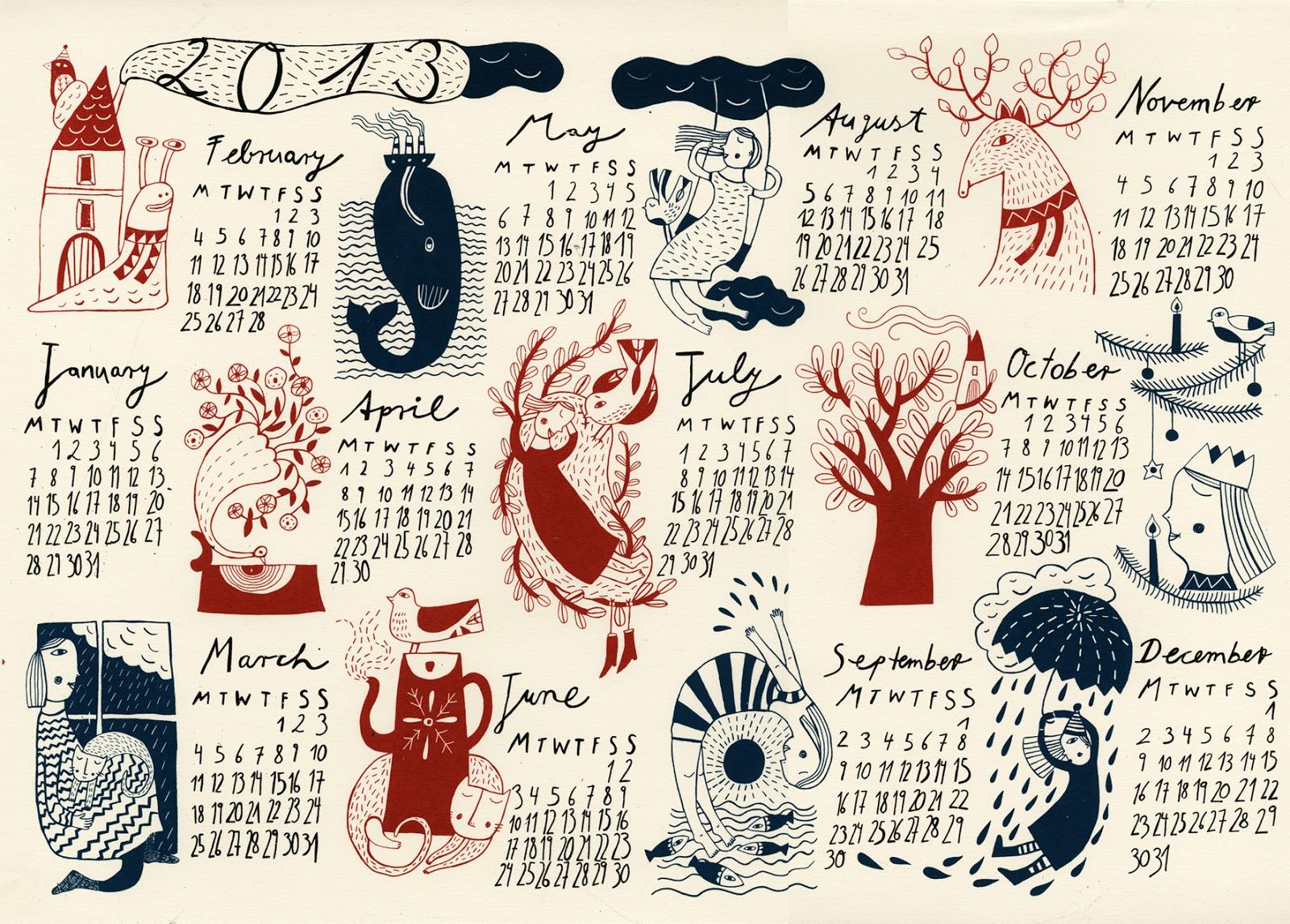 Календарь настенный своими руками